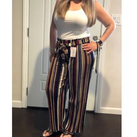 df1019aa9 Fashion Addict Pants | Newvacay Striped | Poshmark